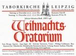 J.S.Bach Weihnachtsoratorium I - III in der Taborkirche Leipzig