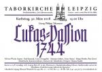 Georg Philipp Telemann Lukas-Passion 1744